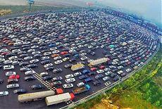 Пробка на дороге в Пекине