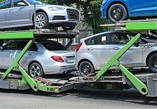 Автомобили на автовозе