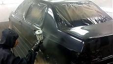 Покраска автомобиля Volkswagen Vento в чёрный цвет